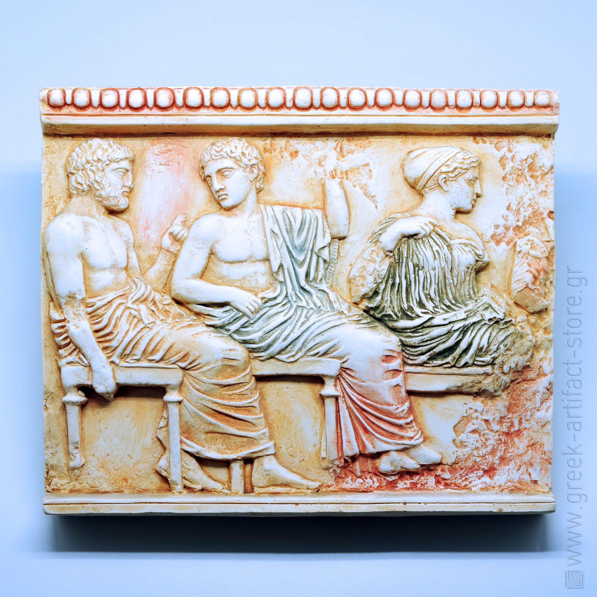 Poseidon - Apollo - Artemis relief (33X26 cm)