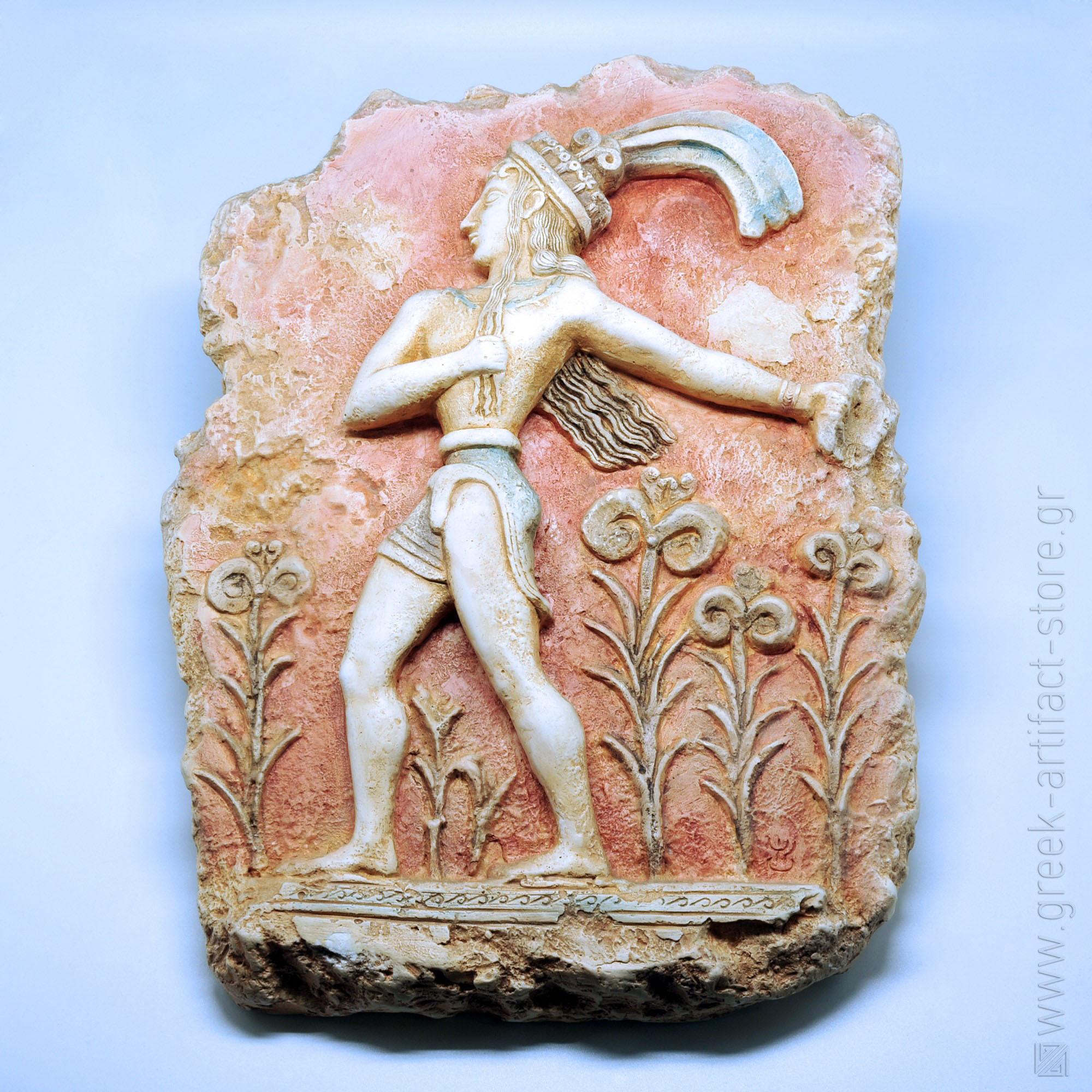 Prince of Knossos relief (45X33 cm)