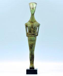 Cycladic Art oxidized bronze statue (33 cm)