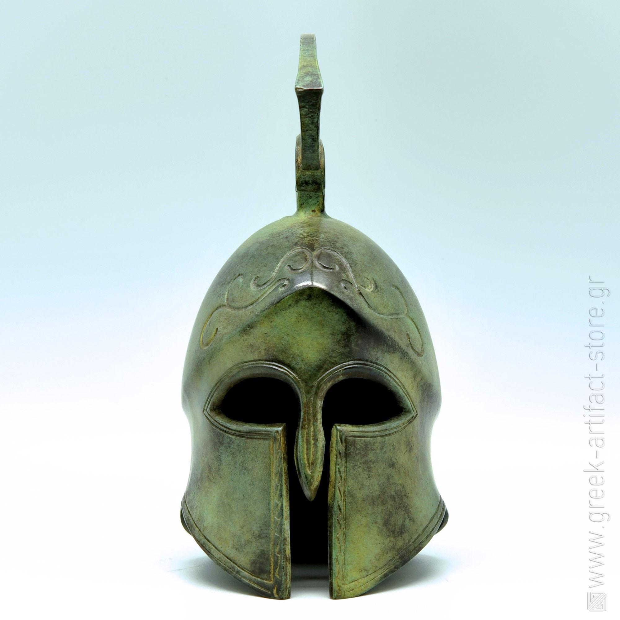 Spartan helmet oxidized bronze (24 cm)
