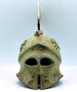 Athena's helmet oxidized bronze (34 cm)