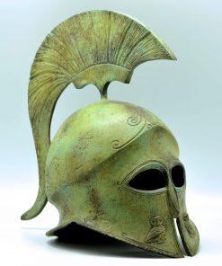 Athenian helmet oxidized bronze (34 cm)
