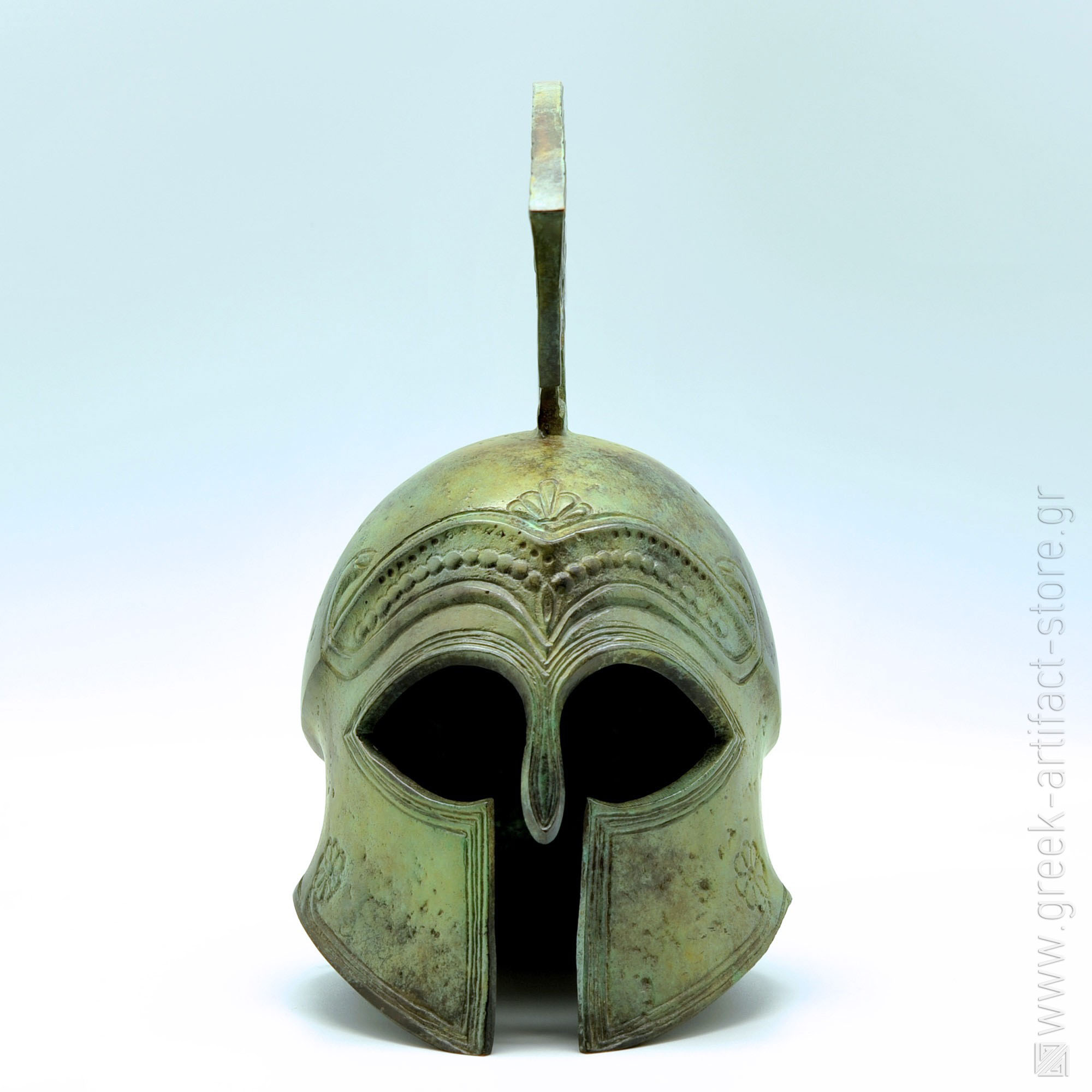 Spartan helmet oxidized bronze (27 cm)