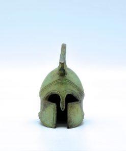 Spartan helmet oxidized bronze (9,5 cm)