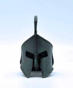 Leonidas  helmet oxidized bronze (13 cm)