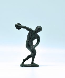 Disc thrower (oxidized bronze statue) (12 cm)