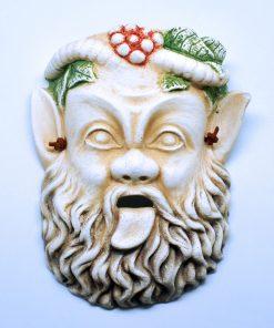 Pan ceramic theatrical mask (19 cm)