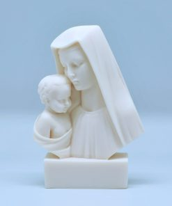 Virgin Mary and Jesus Christ alabaster statue (14 cm)