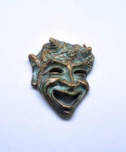Comedy ceramic theatrical mask (12 cm)
