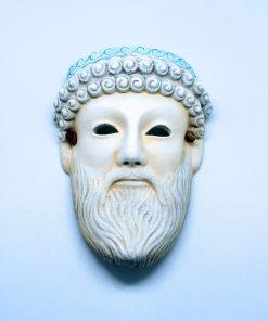 Zeus ceramic theatrical mask (16 cm)