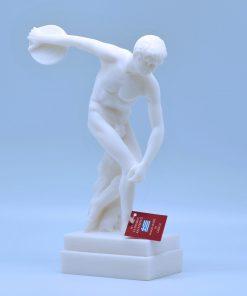 The discobolus alabaster statue (22 cm)
