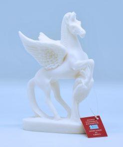 Pegasus horse alabaster statue (15 cm)