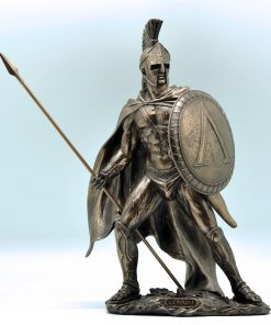 Leonidas bronze plated statue (35 cm)