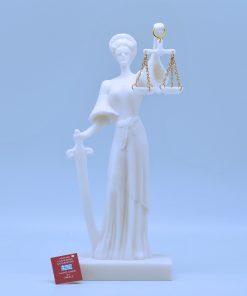 Themis alabaster statue (25 cm)