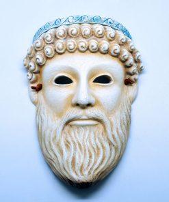 Zeus ceramic theatrical mask (21 cm)
