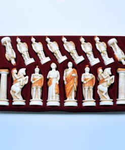 Alabaster pawns (12 cm)