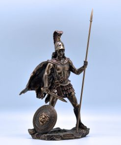 Ares bronze plated statue