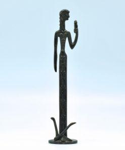 Demeter (oxidized bronze statue) (18 cm)