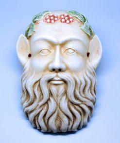 Silenus ceramic theatrical mask (30 cm)