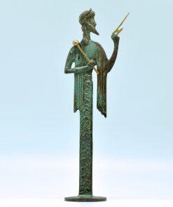 Zeus (oxidized bronze statue) (22 cm)
