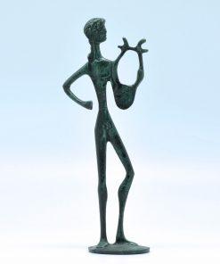 Apollo (oxidized bronze statue) (18 cm)