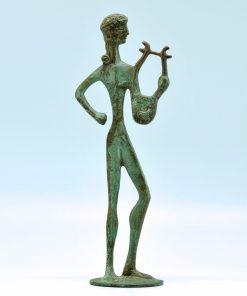 Apollo (oxidized bronze statue) (22 cm)