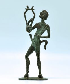 Satyr (oxidized bronze statue) (18 cm)