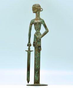 Themis (oxidized bronze statue) (28,5 cm)