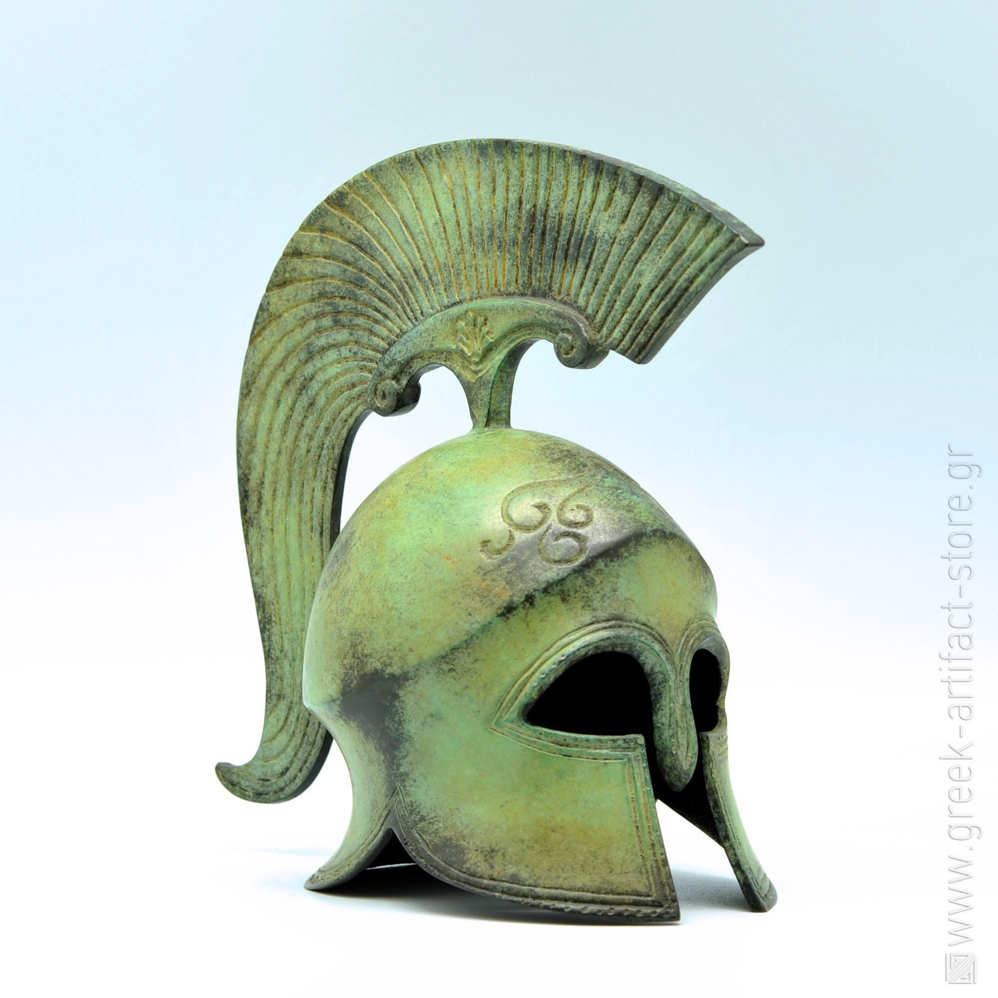Spartan helmet oxidized bronze (8 cm)