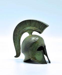 Spartan helmet oxidized bronze (11 cm)