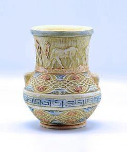 Minoan-Style Handmade Vase (13X15cm/5.11''X5.90'')