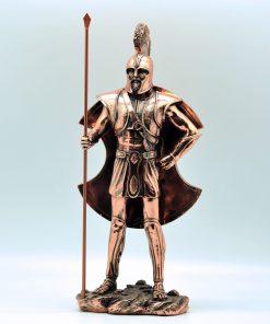 Startan hoplite copperplated statue (35 cm)