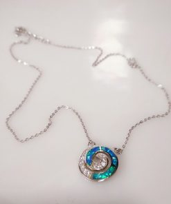 Handmade 925 Silver Necklace With Opal Stone, Infinity Symbol.