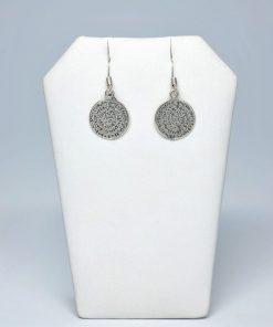 Handmade Hanging  Silver earrings 925 (13,5mm X 13,5mm)
