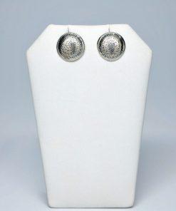 Handmade Stud Silver earrings 925 (14,5mm X 14,5mm)