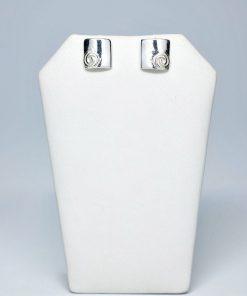 Handmade Stud Silver earrings 925 (10,5mm X 11mm)