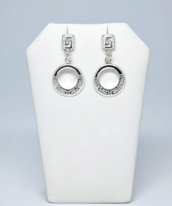 Handmade Stud Silver earrings 925 (17mm X 32mm)
