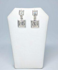 Handmade Stud Silver earrings 925 (12,5mm X 27mm)