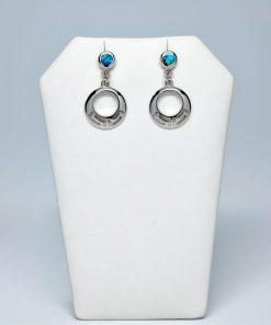 Handmade Stud Silver earrings 925 (14mm X 25mm)