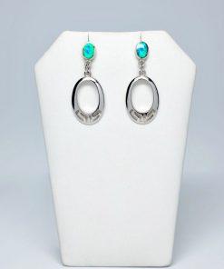 Handmade Stud Silver earrings 925 (13mm X 32mm)