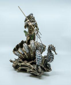 Poseidon Waves Handmade Bronze Plated Statue (28.5cm/11.22'' Tall)