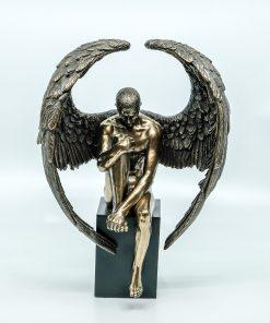 Hermes Handmade Bronze Plated Statue (37,5cm)
