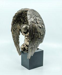 Hades with Cerberus Handmade Bronze Plated Statue (28cm/11.02'' Tall)