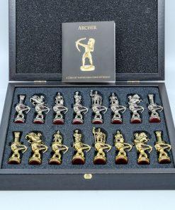 Handmade Bronze Chess Set  (26X26cm/10.23''X10.23'')
