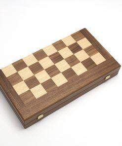 Handcrafted Walnut Chess & Backgammon (48X26cm/18,89''X10,23'')