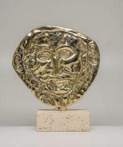 Agamemnon's oxidized bronze mask (18cm/7.08'' Tall)