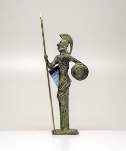 Athena (handmade oxidized bronze statue) (16cm/6.29'' Tall)