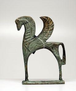 Pegasus horse  (handmade oxidized bronze statue) (14x9cm/5.51x3.54'' Tall)