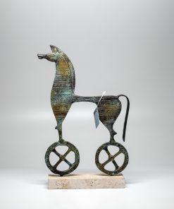Handmade Oxidized Bronze Geometrical  Horse (28x15cm/11.02''x5.9'' Tall)